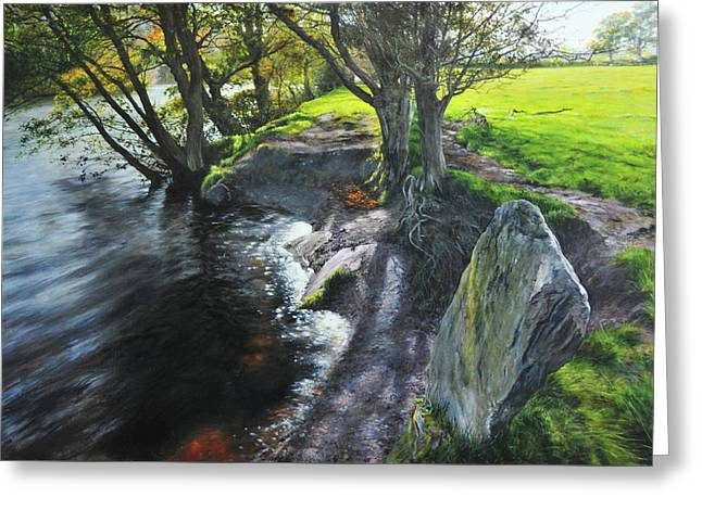 River Dee At Rhug Greeting Card by Harry Robertson