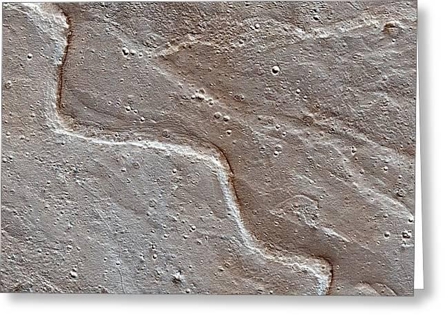 River Deposits On Mars Greeting Card by Nasa/jpl-caltech/univ. Of Arizona