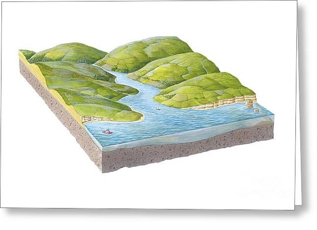 Tidal River Greeting Cards - River Estuary, Artwork Greeting Card by Gary Hincks