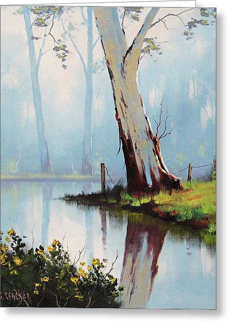 Australian Tree Greeting Cards - River Eucalyptus Trees Greeting Card by Graham Gercken