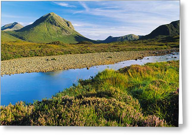 Water Flowing Greeting Cards - River Flowing On A Landscape, River Greeting Card by Panoramic Images