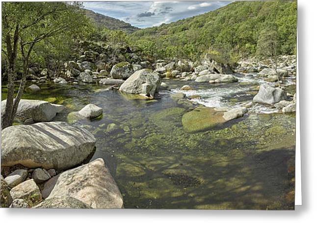 River Flowing Through Rocks, River Greeting Card by Panoramic Images
