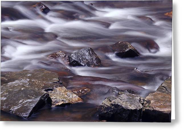 Flowing Stream Greeting Cards - River Flows 2 Greeting Card by Mike McGlothlen
