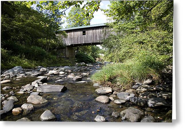 River Gorge Covered Bridge Greeting Card by Jim  Wallace