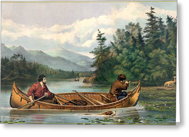 River Hunting Greeting Card by Gary Grayson