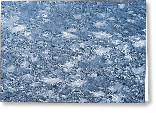 Floating Ice Sheet Greeting Cards - River Ice - Featured 3 Greeting Card by Alexander Senin