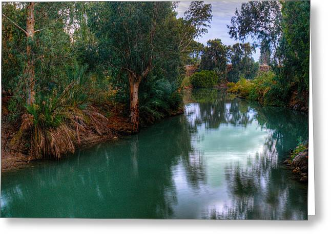Judaism Greeting Cards - River Jordan Greeting Card by Don Wolf