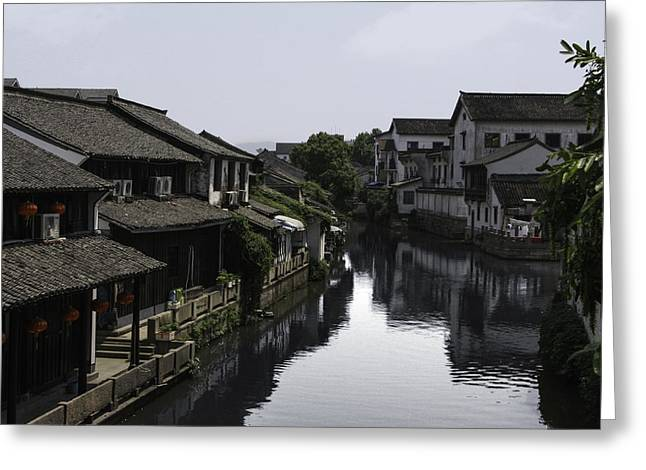 Yun Qing Fu Greeting Cards - River Living Greeting Card by  Qing