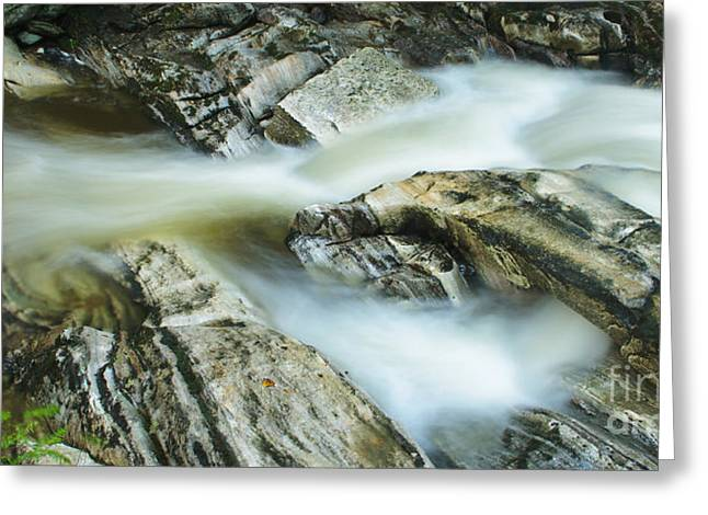 Kent Falls State Park Greeting Cards - River - Marble Cascades Greeting Card by JG Coleman