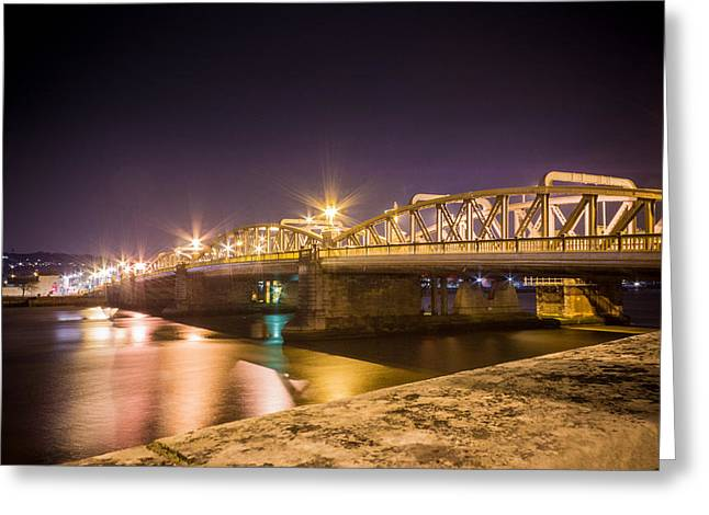 River Medway Greeting Cards - River medway at Night Greeting Card by Ian Hufton