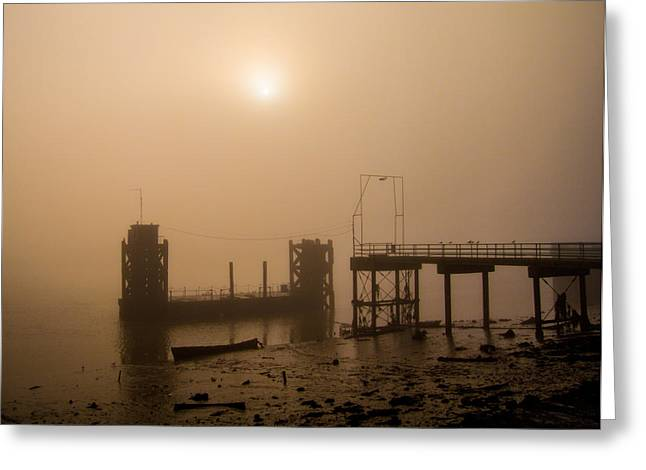 River Medway Greeting Cards - River Medway Fog Greeting Card by Dawn OConnor