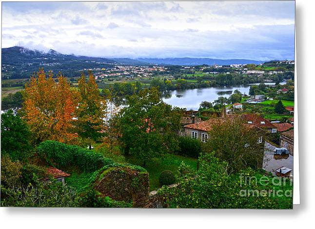 Lanscape Greeting Cards - River Mino and Portugal from Tui Greeting Card by RicardMN Photography