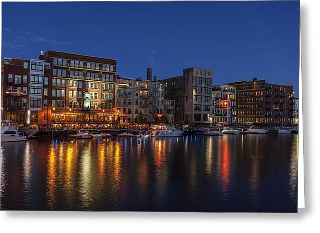 40mm Greeting Cards - River Nights II Greeting Card by CJ Schmit