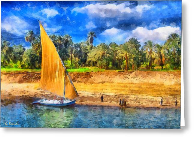 G.rossidis Greeting Cards - River Nile Greeting Card by George Rossidis