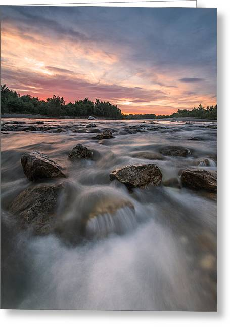 Riverscapes Greeting Cards - River of Dreams Greeting Card by Davorin Mance