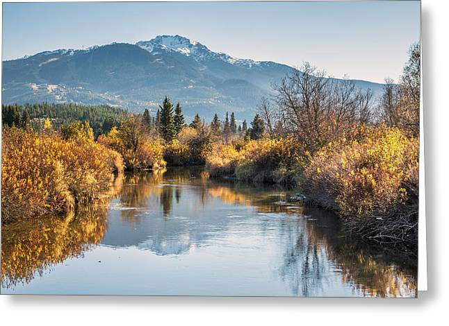 Canon Eos 6d Greeting Cards - River of Golden Dreams in Autumn Greeting Card by Pierre Leclerc Photography