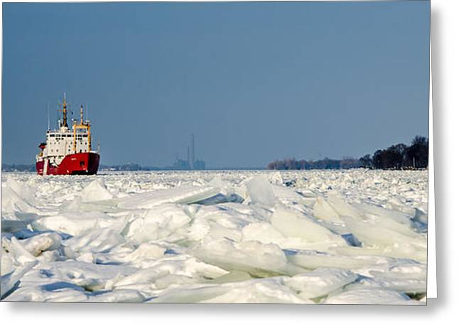 Saint Christopher Greeting Cards - River of Ice Greeting Card by Gales Of November