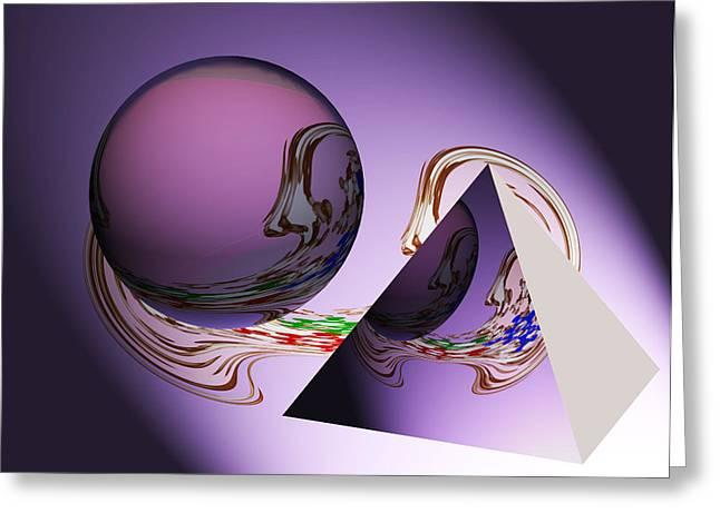 Geometrical Art Greeting Cards - River of Life Greeting Card by Georgeta  Blanaru