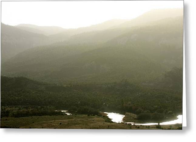 Chama River Greeting Cards - River of Light Greeting Card by Look Visions