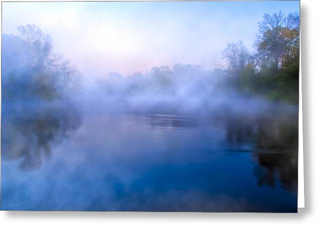 Fall In Georgia Greeting Cards - River Of Mists - Georgia Landscapes Greeting Card by Mark Tisdale