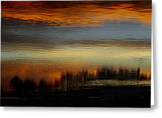 River Of Sky Greeting Card by Laura Fasulo