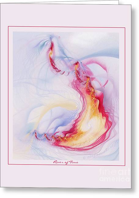 Graphic Digital Art Pastels Greeting Cards - River of Time Greeting Card by Gayle Odsather