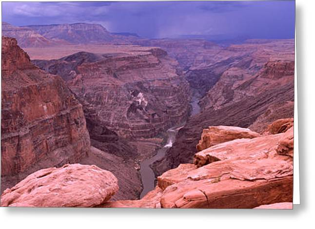 North Rim Greeting Cards - River Passing Through A Canyon Greeting Card by Panoramic Images