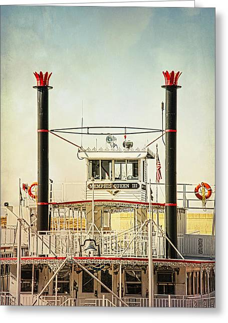 Tennessee Landmark Greeting Cards - River Queen Greeting Card by Suzanne Barber