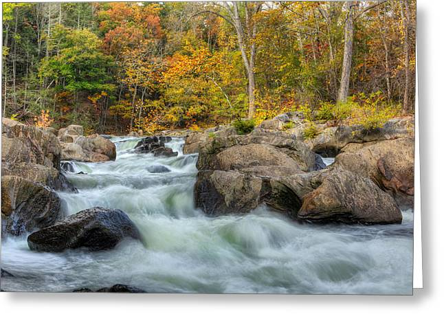 Housatonic River Greeting Cards - River Rapids Greeting Card by Bill  Wakeley