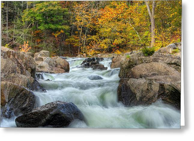 Housatonic River Greeting Cards - River Rapids Square Greeting Card by Bill  Wakeley