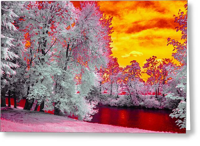 River Red Greeting Card by Conrad Libby