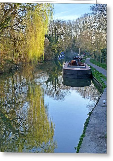Reflection In Water Greeting Cards - River Reflections  Greeting Card by Gill Billington