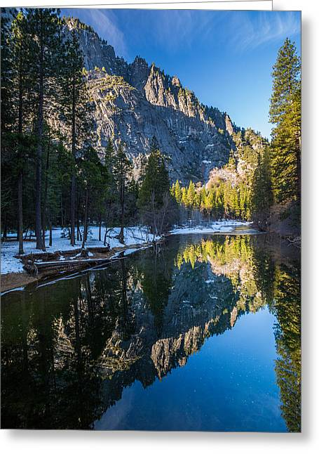 Mike Lee Greeting Cards - River Reflections Greeting Card by Mike Lee