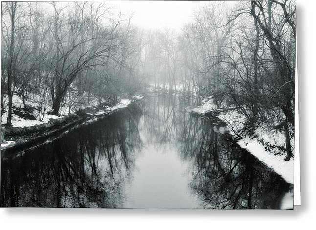 River View Greeting Cards - River Reflections Greeting Card by Victoria Fischer
