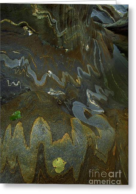 Metamorphism Greeting Cards - River Rock Intrusions Greeting Card by Art Wolfe