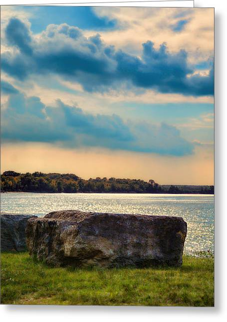 Tennessee River Greeting Cards - River Rock Greeting Card by Jai Johnson