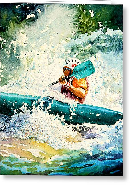 Action Sport Arts Greeting Cards - River Rocket Greeting Card by Hanne Lore Koehler