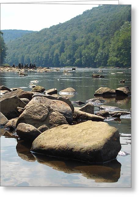 Kerry Lapcevich Greeting Cards - River Rocks Greeting Card by Kerry Lapcevich