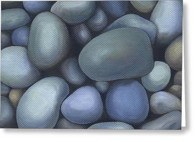 Painted Details Paintings Greeting Cards - River Rocks Greeting Card by Natasha Denger