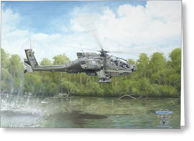 Ah-64 Greeting Cards - River Route Greeting Card by Joshua Donaldson