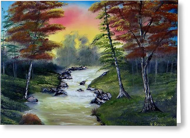 River Run Greeting Card by Kevin  Brown