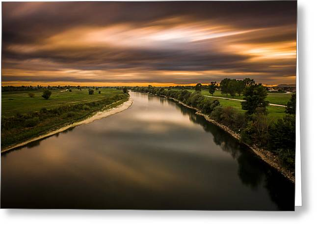 River Sava Greeting Card by Bruno Kolovrat
