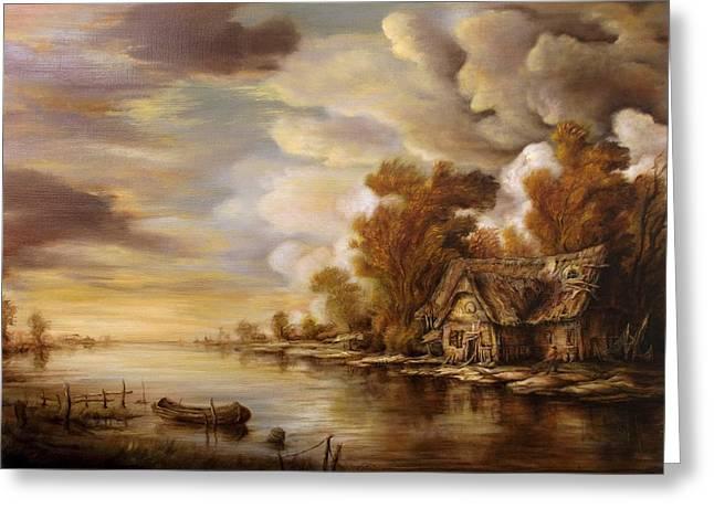 River Scene 3 Greeting Card by Dan Scurtu