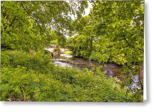 Dappled Light Greeting Cards - River Skirfare Littondale Greeting Card by Trevor Kersley