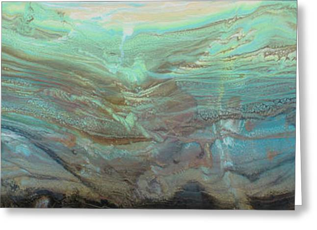 Owner Greeting Cards - River Stone I Greeting Card by Sheila Elsea
