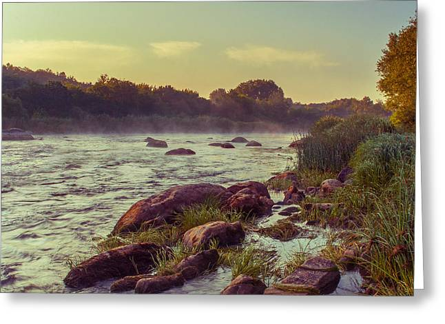 Water Flowing Greeting Cards - River stones Greeting Card by Dmytro Korol