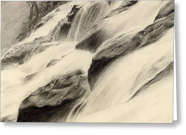 Drawing Greeting Cards - River Stream Greeting Card by Hailey E Herrera