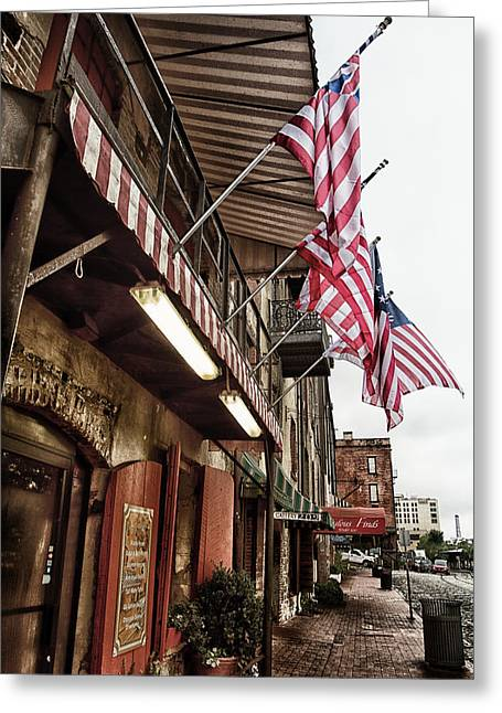 Mccoy Photographs Greeting Cards - River Street Greeting Card by A Different Brian Photography