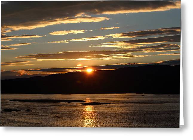 Jahred Allen Photography Greeting Cards - River Sunset Greeting Card by Jahred Allen