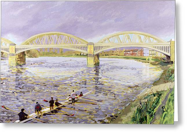 River Paintings Greeting Cards - River Thames at Barnes Greeting Card by Sarah Butterfield